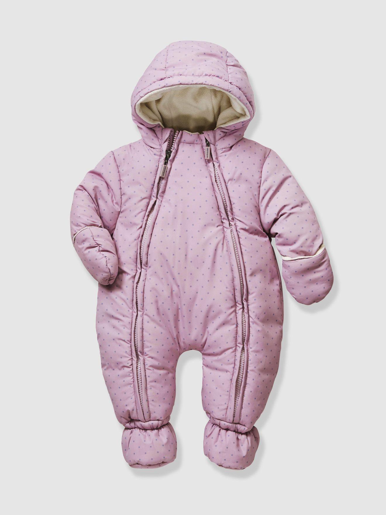 61b1e82d7 Newborn Convertible Pink Purple Snowsuit, Full Length Zip  http://www.parentideal