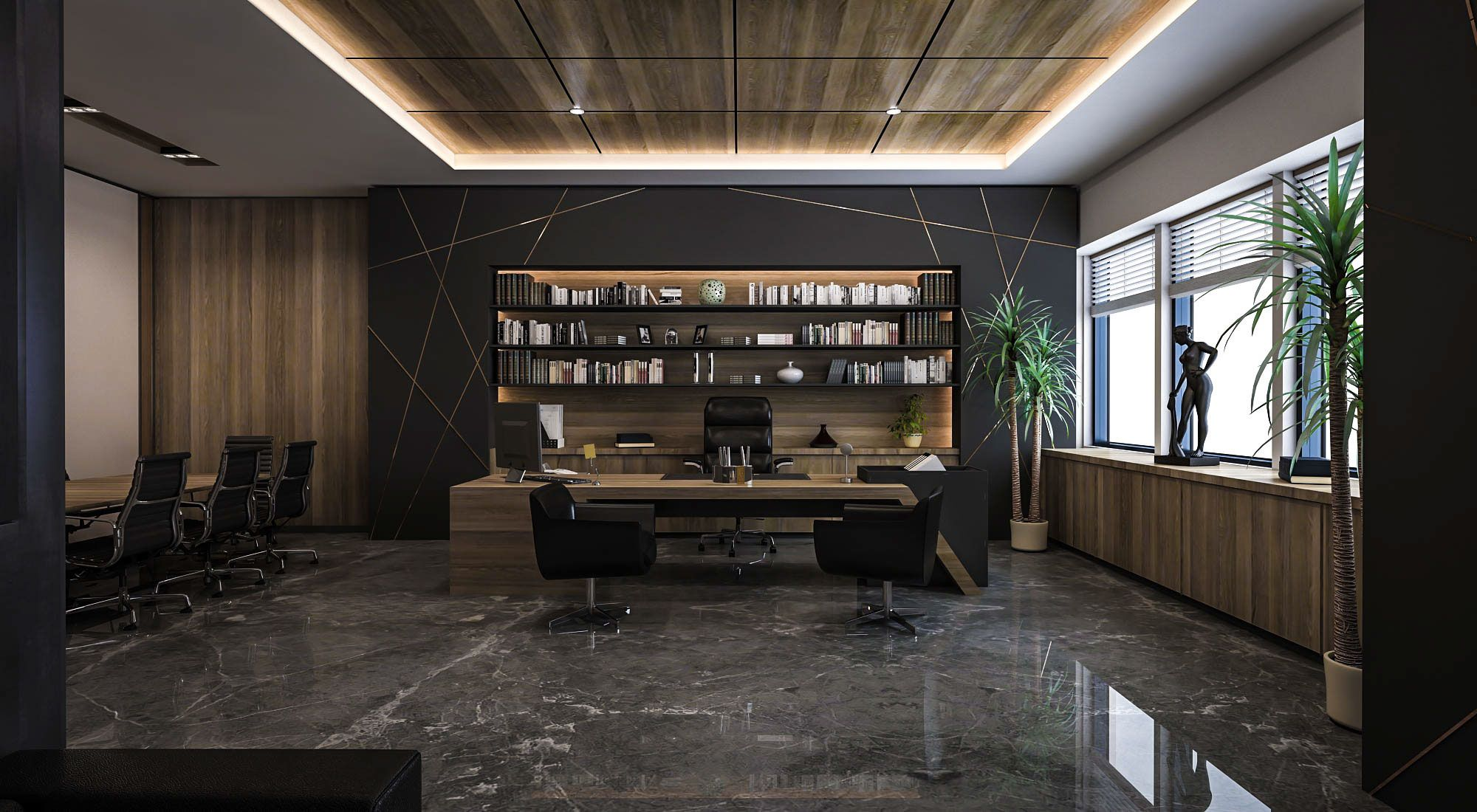 Ceo office design and visualization for a well known for Luxury office interior