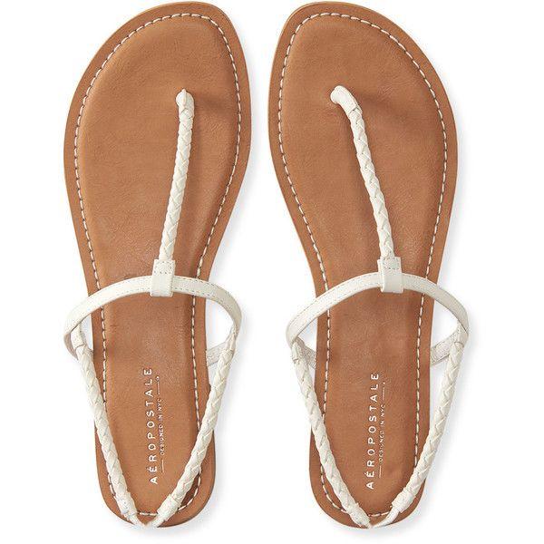 Aeropostale Skinny Braid T-Strap Sandal