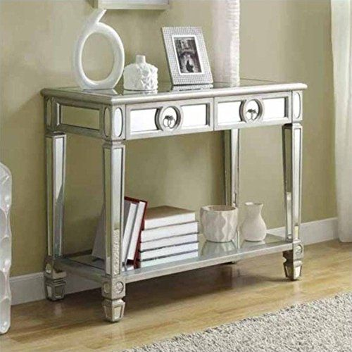 Sofa Console Table With 2 Drawer