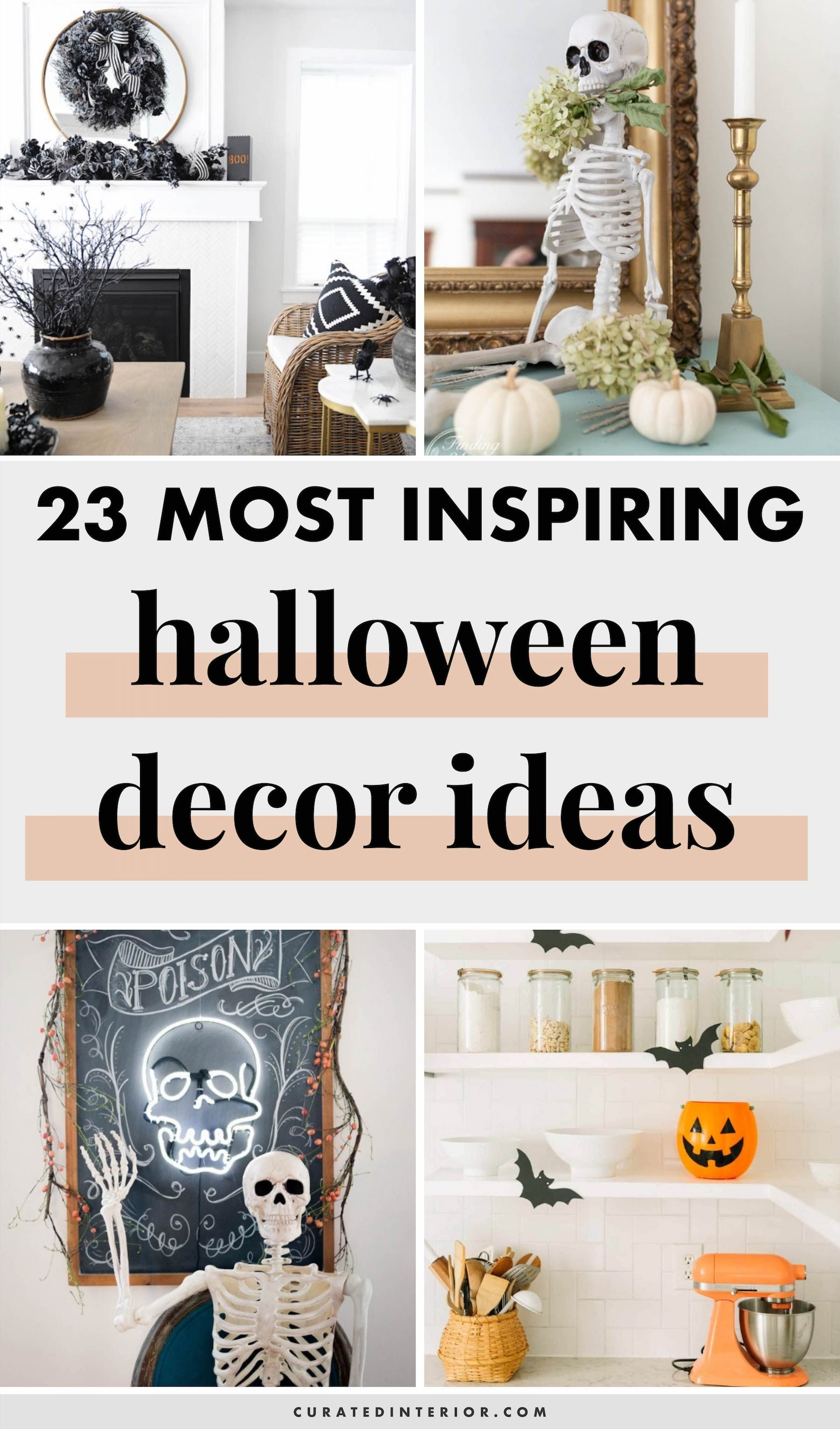 23 Chic Yet Spooky Halloween Decor Ideas For The Home Halloween Decorations Spooky Halloween Decorations Creepy Halloween Decorations