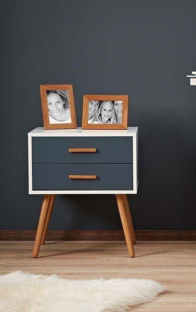 Retro Bed Side Table Vintage End Coffee Wooden Stand Bedroom Modern - muebles en madera modernos