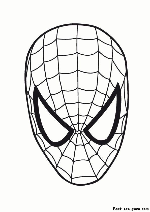Printable Superheroes spiderman maske coloring pages Temafester - new print out coloring pages superheroes