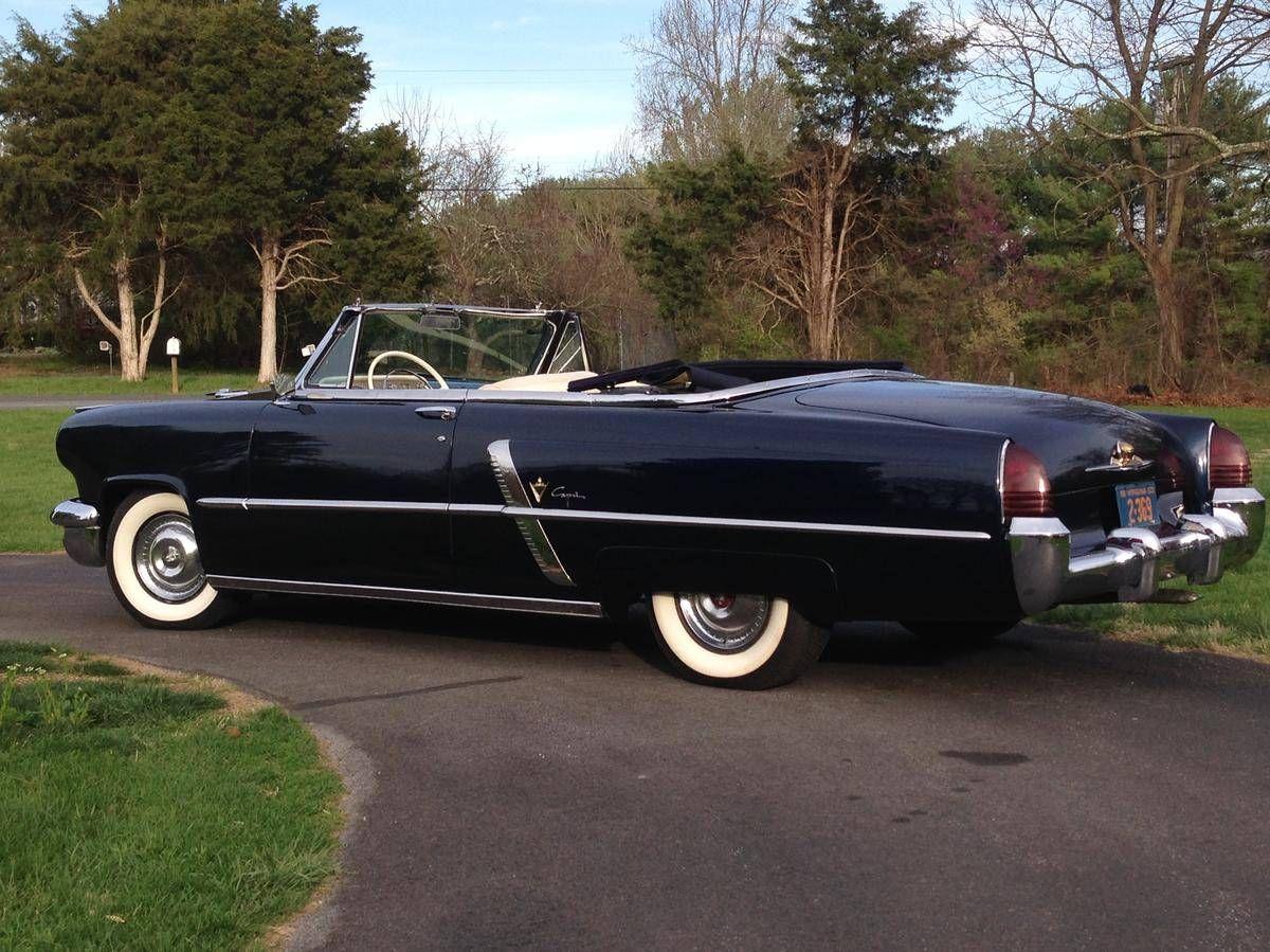 1953 Lincoln Capri Convertible Lincoln cars, Classic