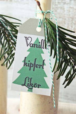 s\u0027Bastelkistle Geschenke aus der Küche Vanillekipferl Likör zum