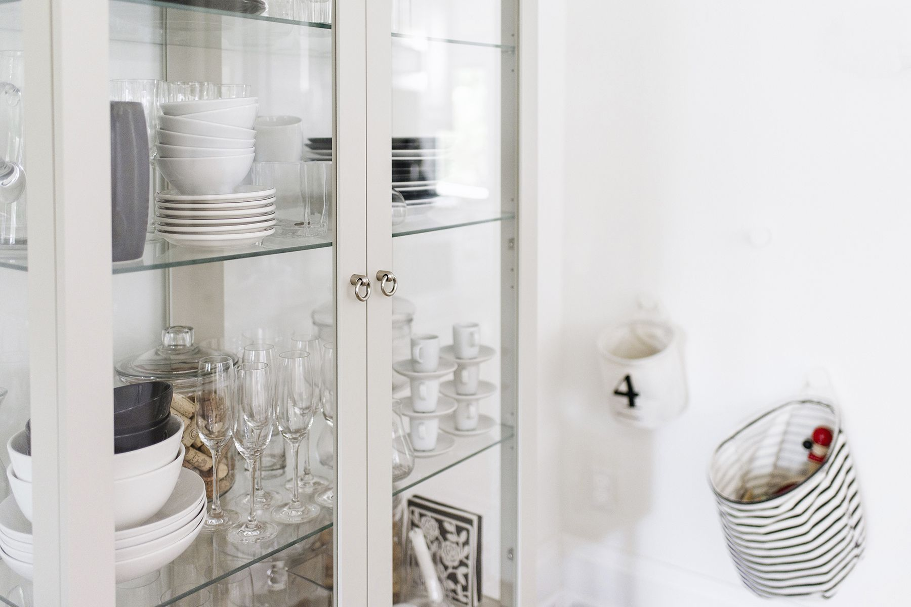 Scandinavian Inspired Dining Room Ikea Stockholm Glass Cabinet Happy Grey Lucky House Crockery Cabinet Room
