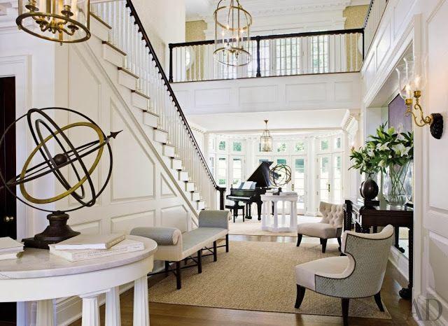 Ingoodtaste:thomaspheasantdesign love this open feel to the foyer ...
