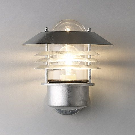 Nordlux vejers outdoor wall light galvanised steel galvanized buy nordlux vejers outdoor wall light galvanised steel online at johnlewis mozeypictures Image collections
