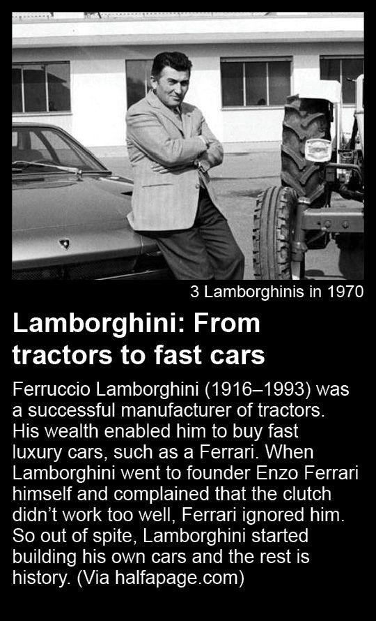 Lamborghini From Tractors To Fast Cars Ferruccio Lamborghini