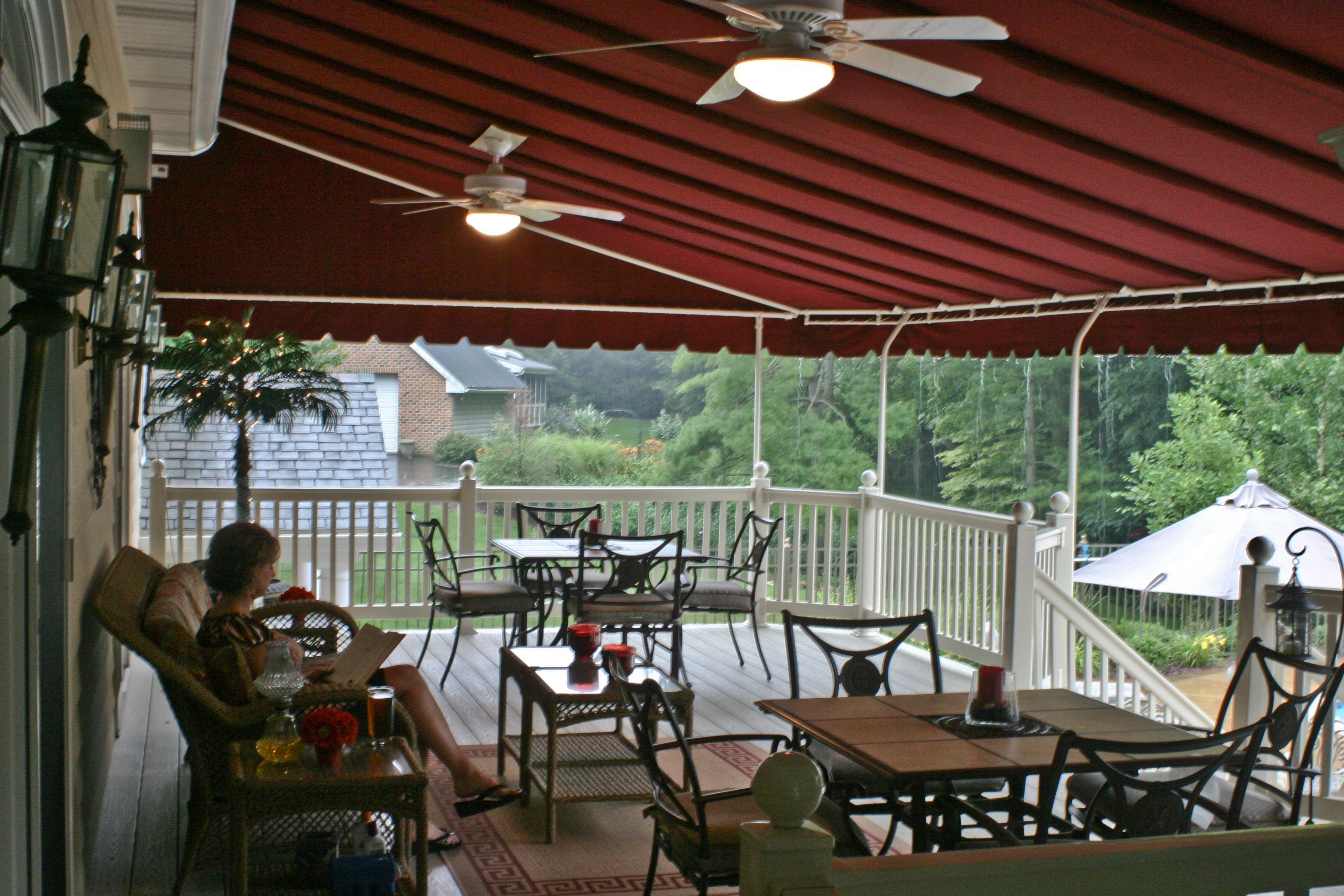 shade ideas lovely over porch outdoor awning patio of for shades deck sun