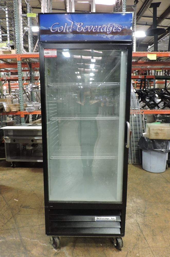 Beverage Air Mt27 Commercial Glass Swing Door Refrigerator Glass Door Refrigerator Beverages Restaurant Equipment
