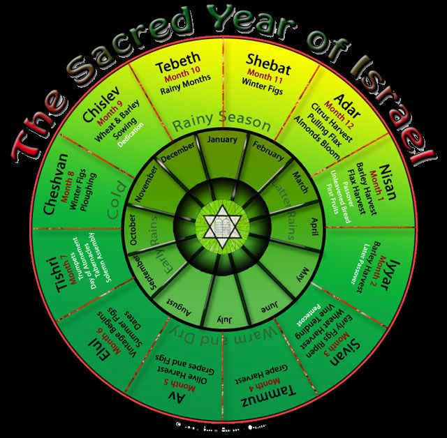 The Sacred Year of Israel - The Month of Tebeth   Seasons +