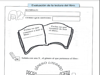 Fichas para Evaluar la Lectura de un Libro