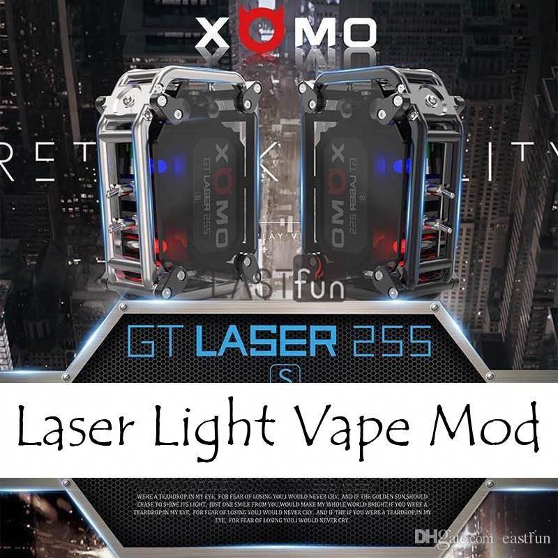 abebe44dfc3 100% Authentic Xomo Gt Laser 255 Box Mod Built In 3500mah Battery Xomo Box  Mod Mechanical Mod Kit With Laser Flashing Light Vs Smoant Rabox Mods Ecigs  The ...