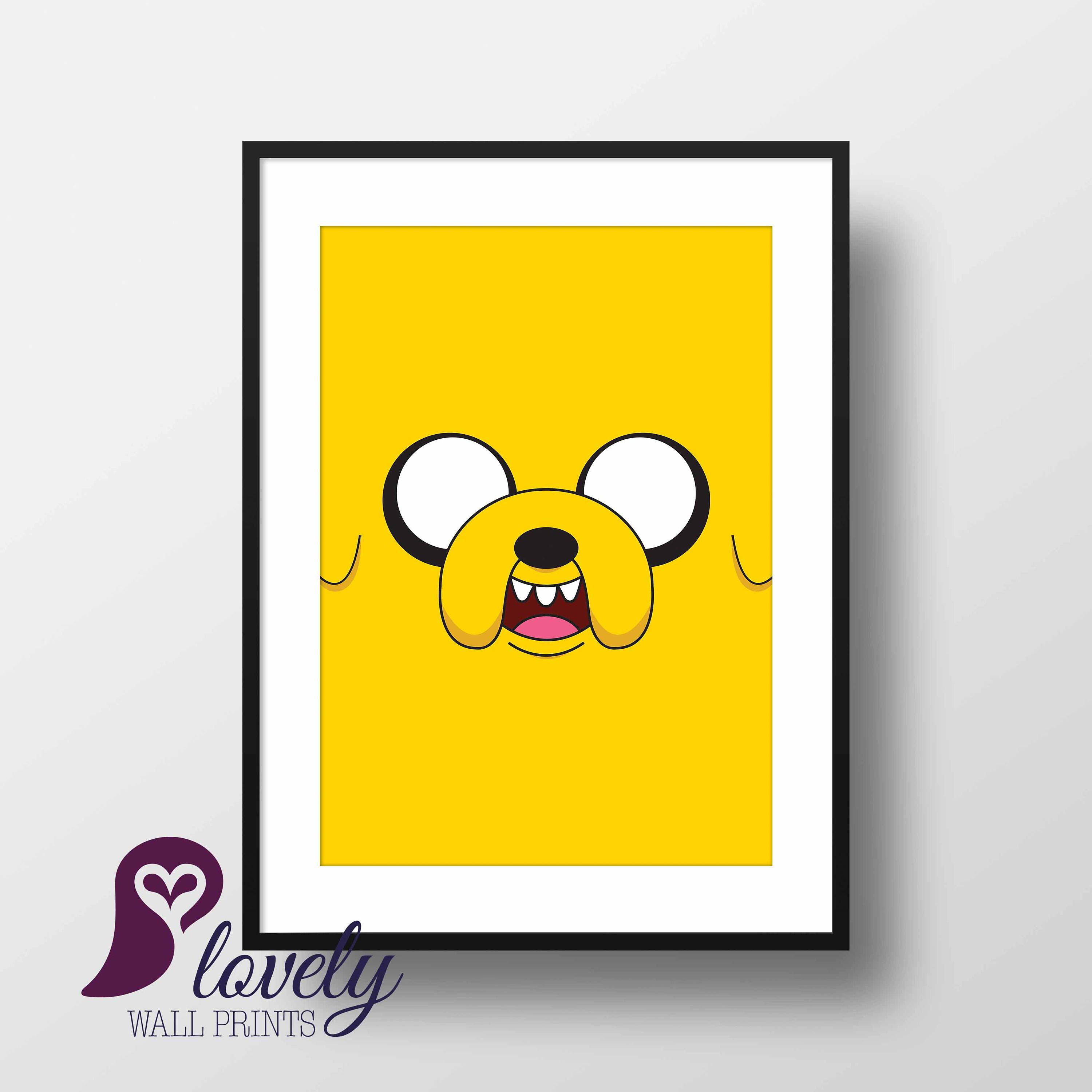 Jake the Dog Poster | Cartoon | Adventure Time | Wall Art | Wall ...