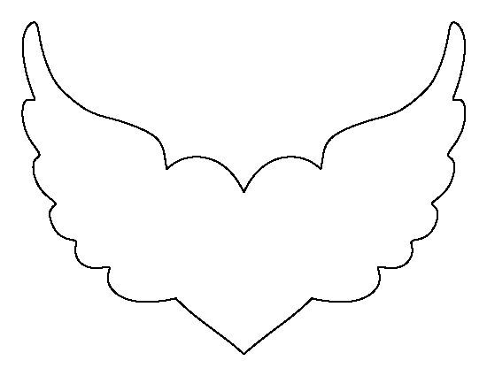 angel wing cut out template - photo #5