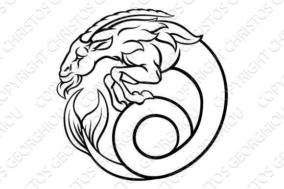 Zodiac Signs Capricorn Calendar Templates  Dessin