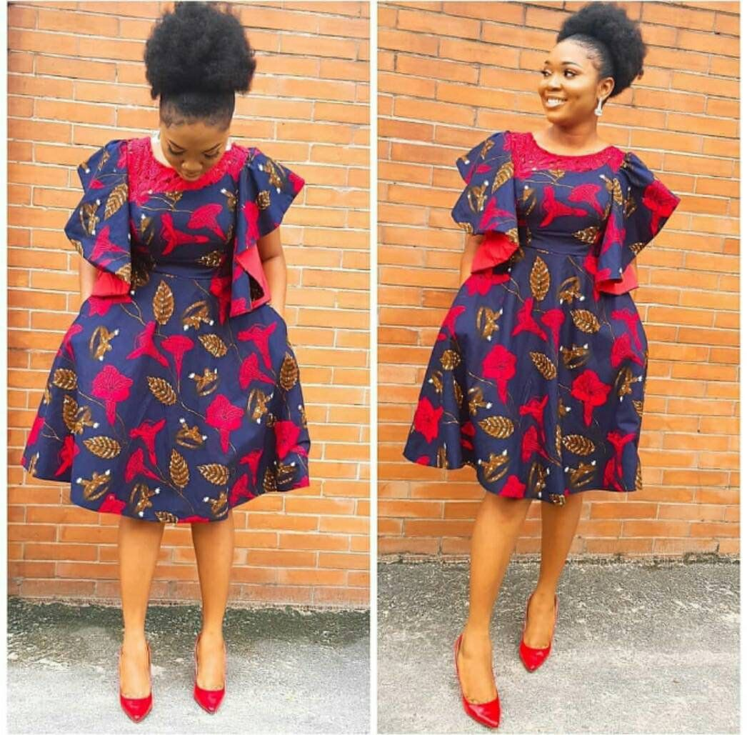 Image result for ankara short gown