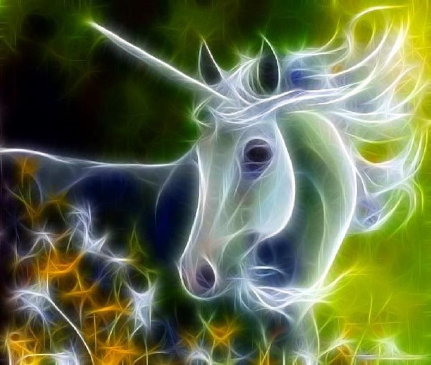 Unicorns And Fairies Real Fractal Art Animals Ho...