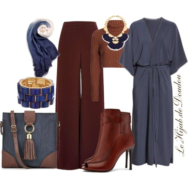 Hijab Outfit | Pantalons palazzo Idee tenue et Tenue