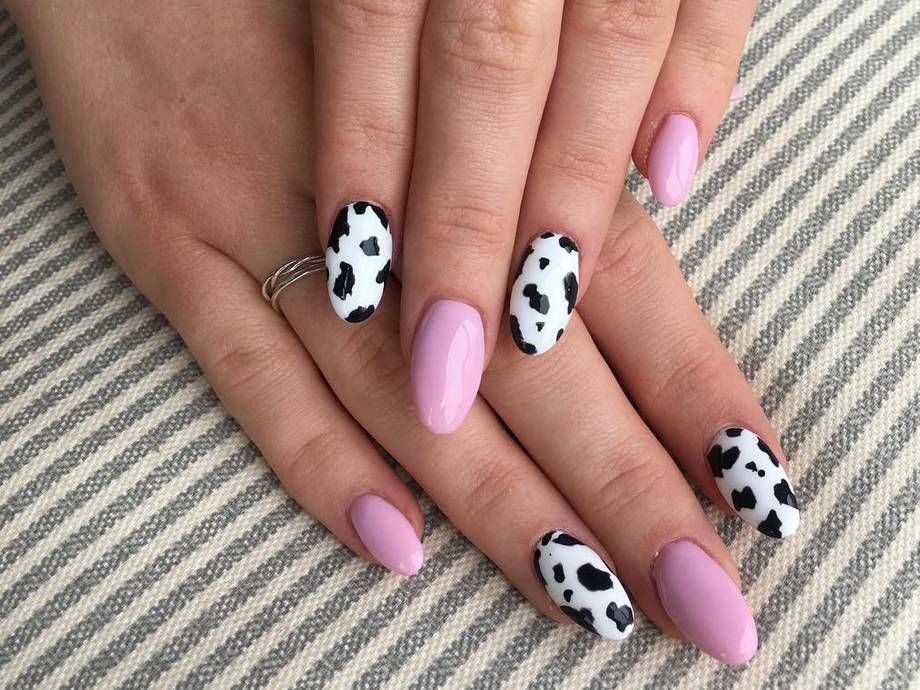 Pretty Nails In 2020 Cow Nails Pretty Acrylic Nails Fire Nails