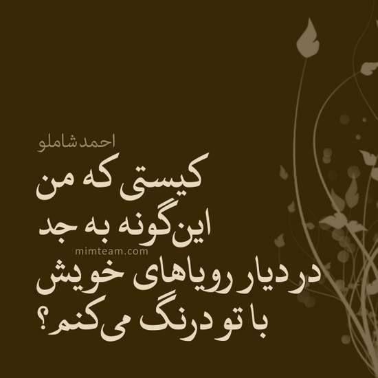 کیستی تو Persian Quotes Persian Poetry Farsi Poem