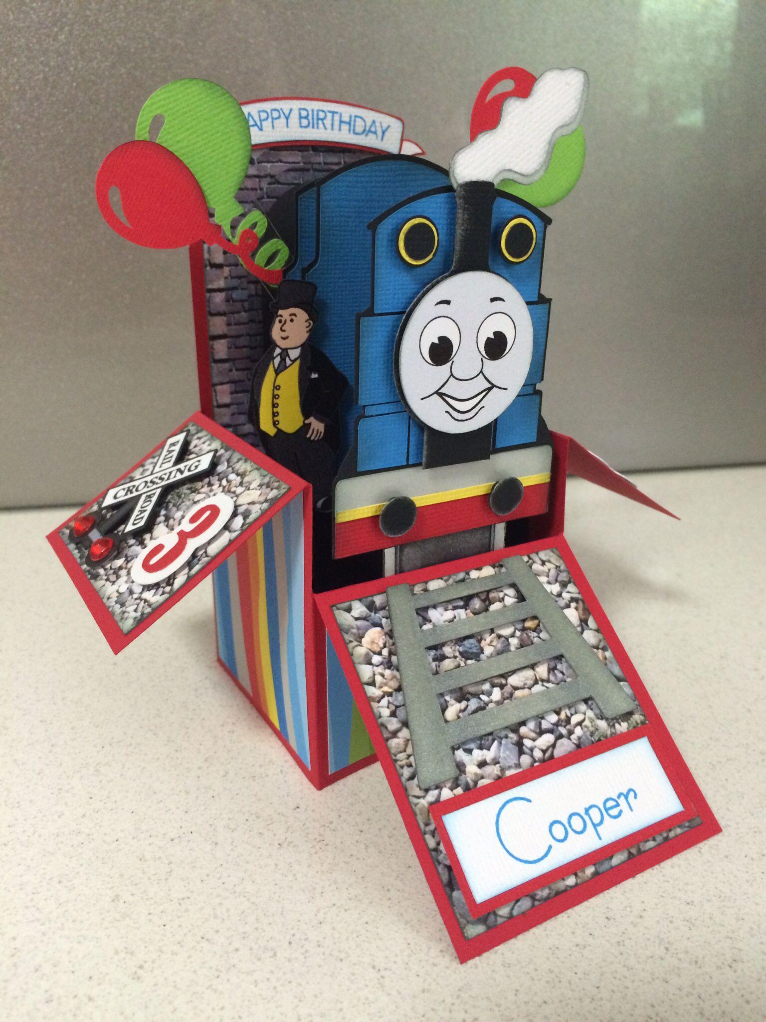 Thomas The Tank Engine Box Card Boxed Birthday Cards Kids Birthday Cards Creative Birthday Cards