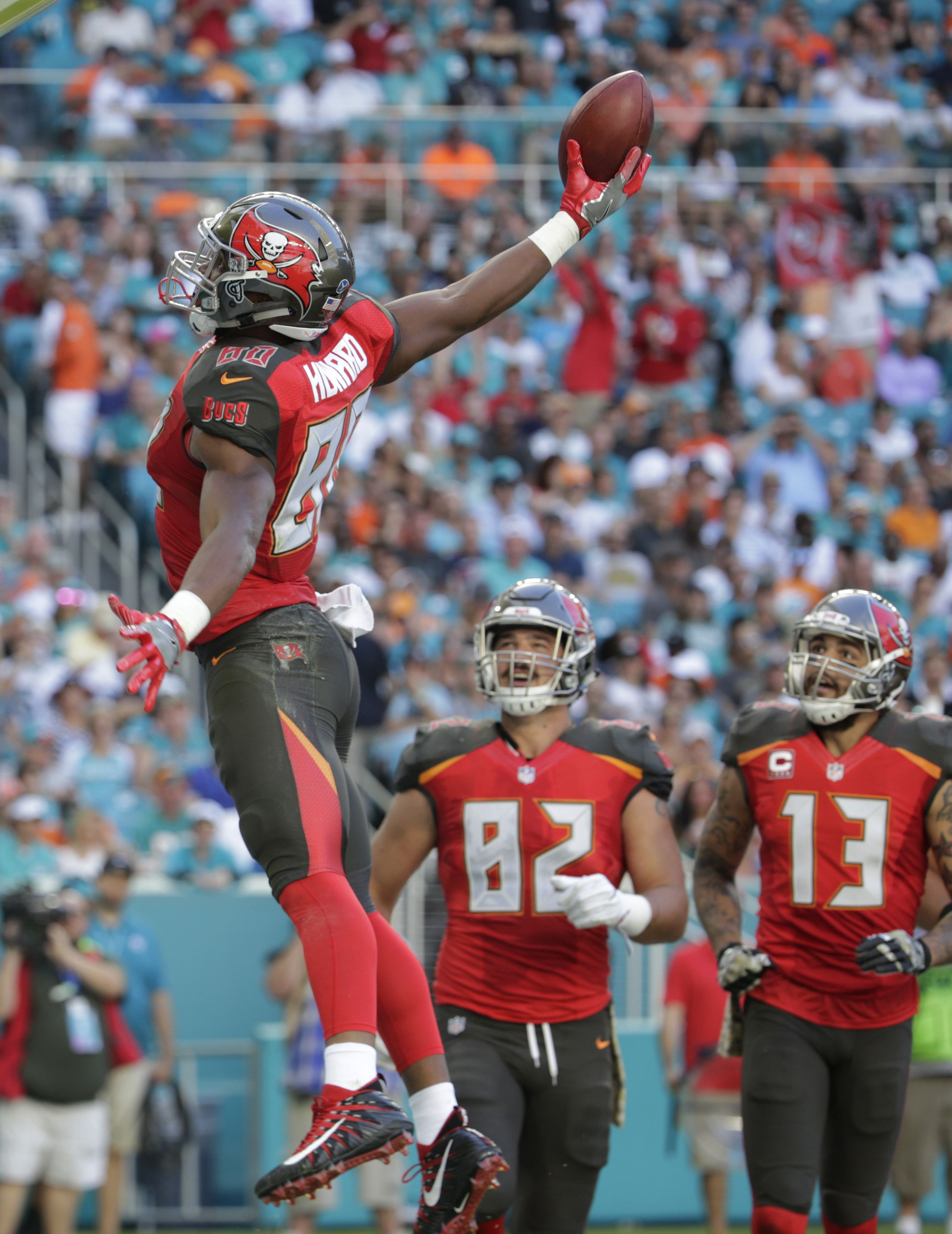 e7036b813 #TampaBay Buccaneers TE O.J. Howard throwing DOWN after he scores a  touchdown. (AP/Sladky)