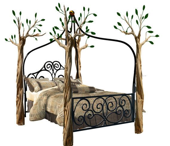 Gothic Canopy Bed Fashion Forward, Custom Made To Order