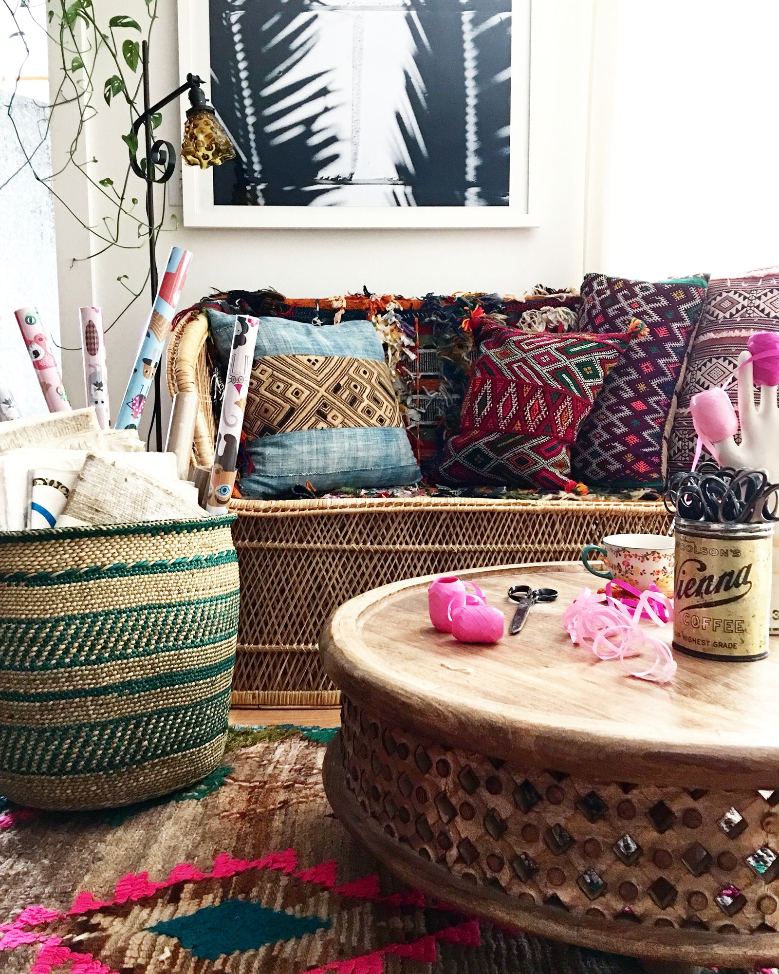 Interior Boho Design Living Room Home Decor: Boho Holiday Vibes @fleamarketfab