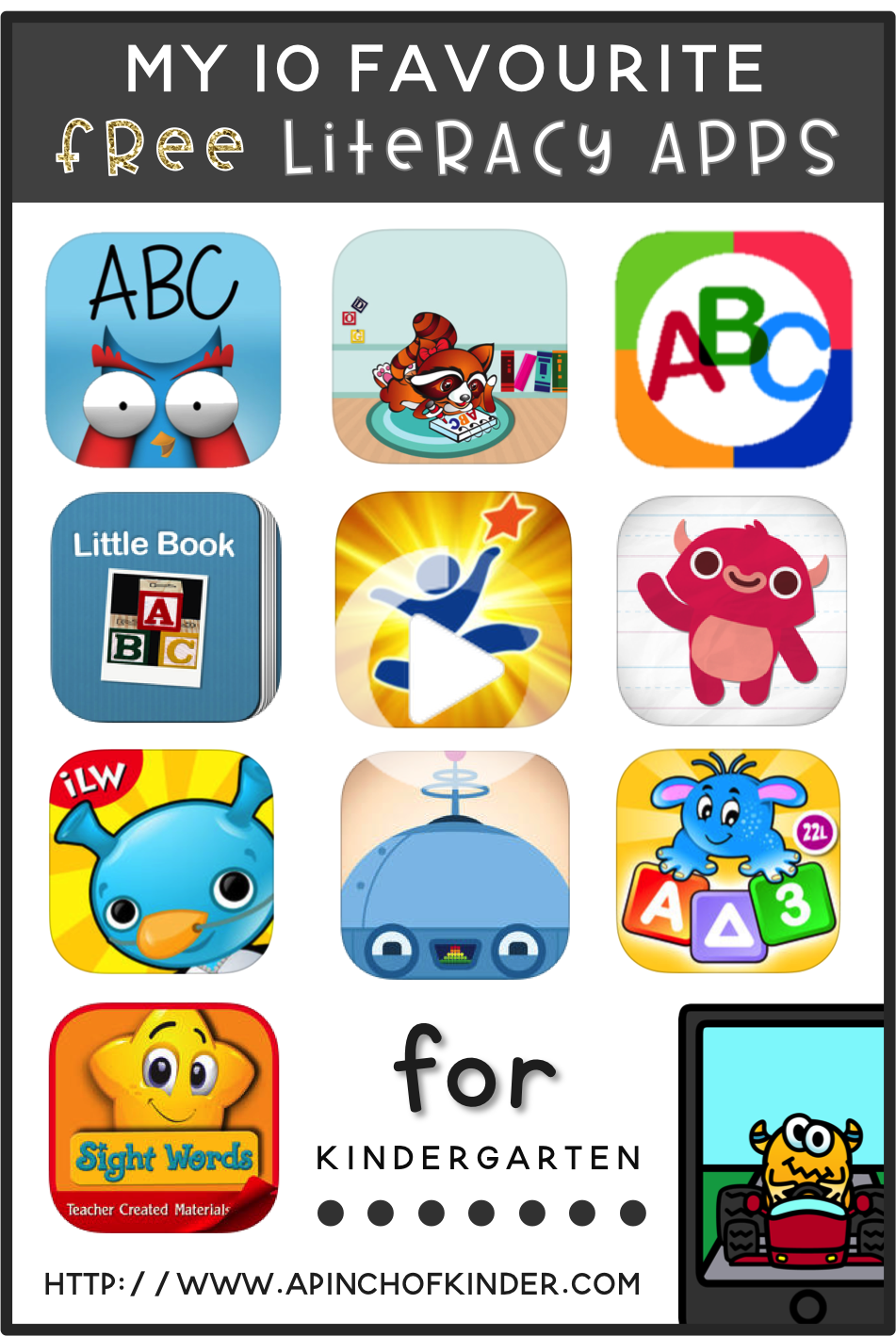 My 10 Favourite Free Literacy Apps For Kindergarten Literacy Apps Kids App Kindergarten Apps [ 1418 x 951 Pixel ]