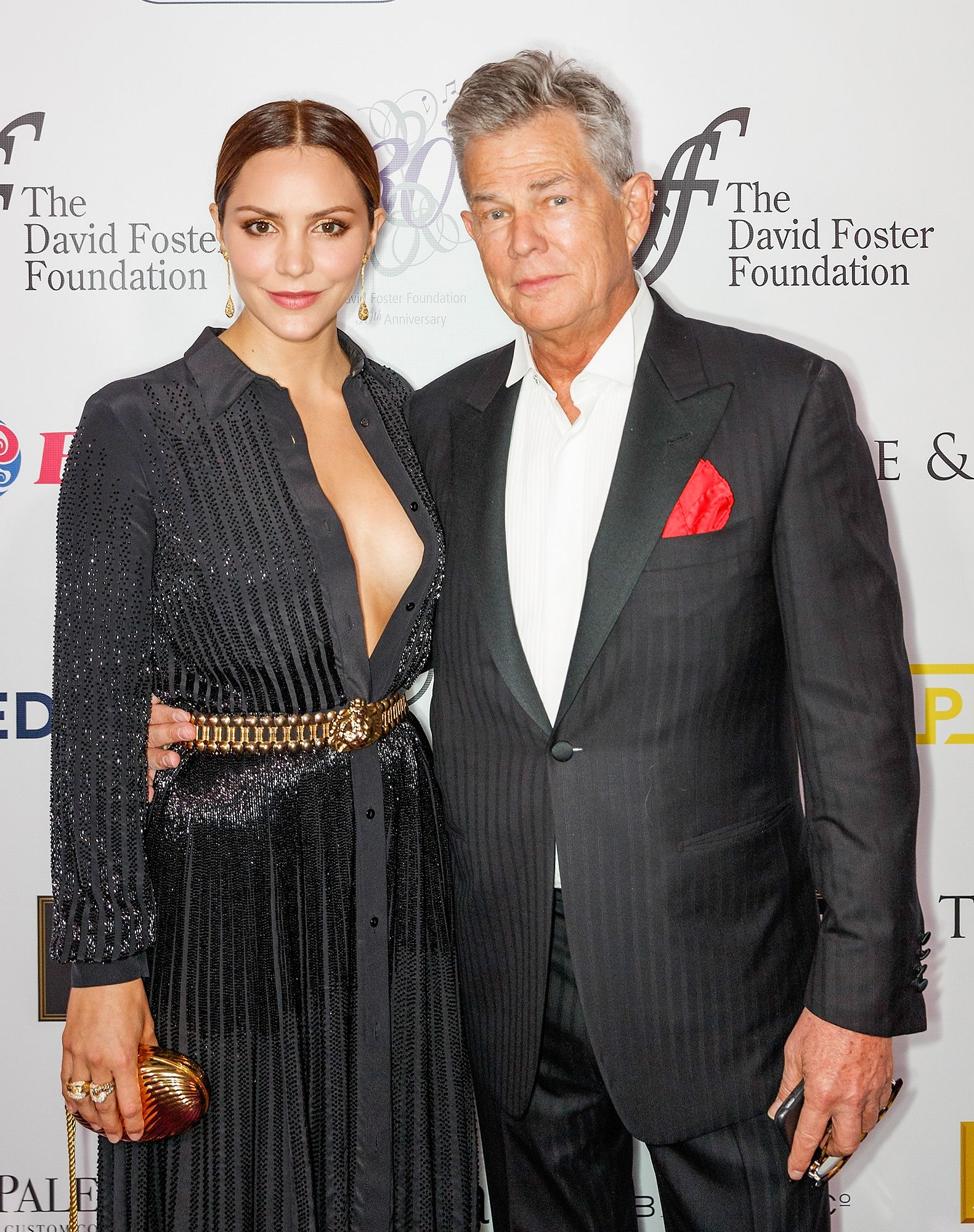 David Foster Says He Wouldn T Say No To Being Married Amid Katherine Mcphee Dating Rumors Cute Celebrity Couples Celebrity Couples David Foster Daughters