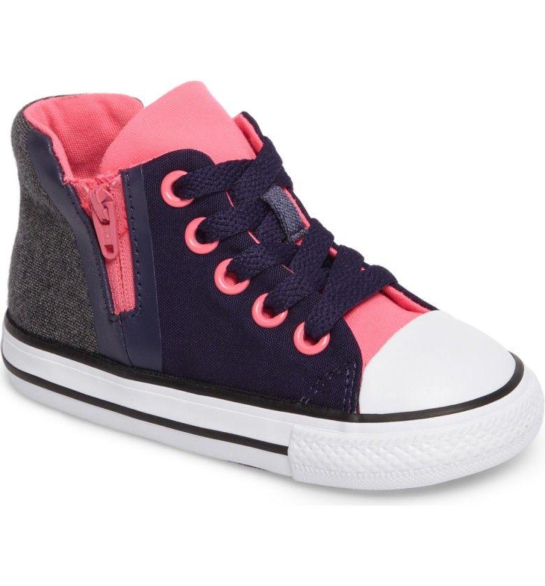 9d3ace130791 Main Image - Converse Chuck Taylor® All Star® Sport Zip High Top Sneaker  (Baby