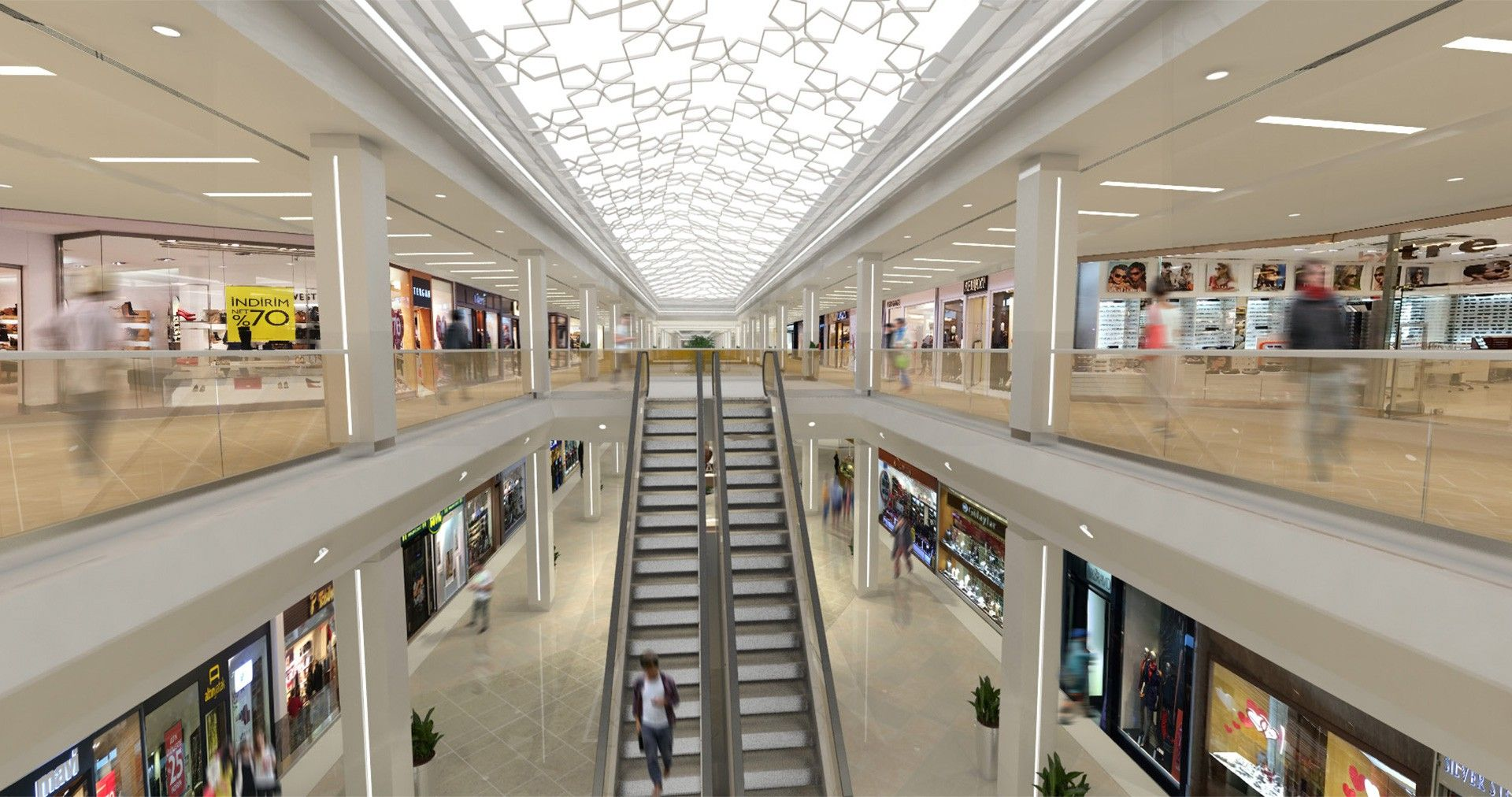 This Is A Modern Approach To Designing A Shopping Mall It Is