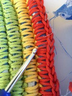 Großprojekt Teppich Häkeln Ideen Rund Ums Haus Pinterest