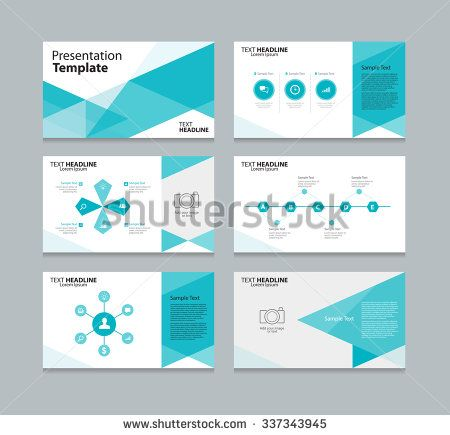 abstract vector business presentation template slides background