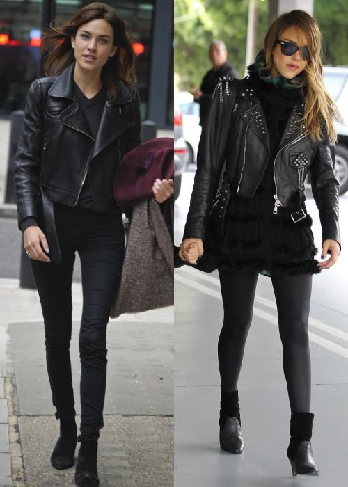 17 Best images about Spotted on: Celebrities wearing leather ...