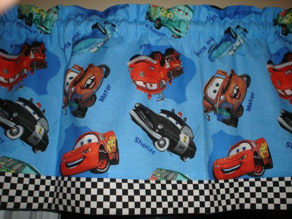 Blue Disney Pixar Cars Checkered Flag Checked Lighting