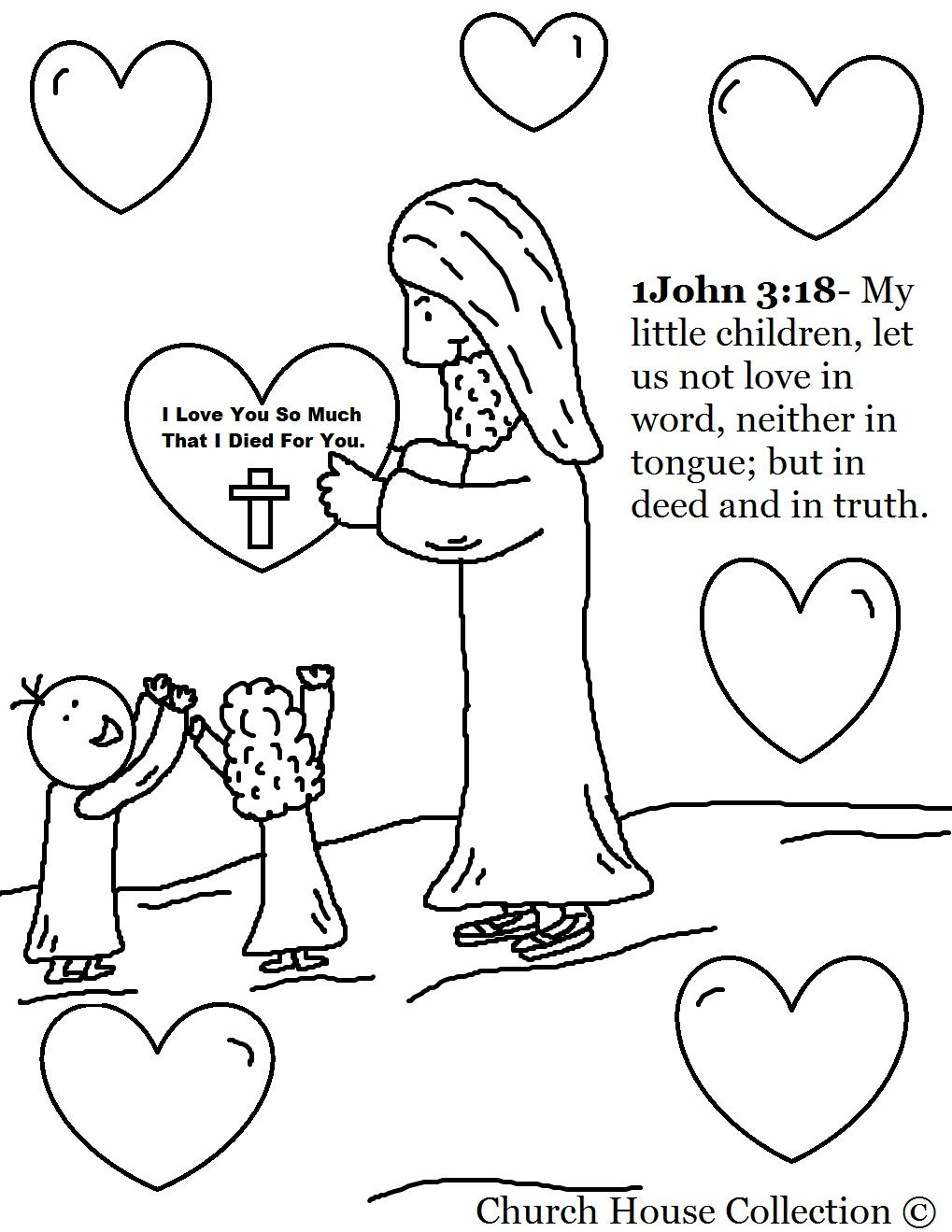 Jesus With Heart Valentine S Day Coloring Page Valentines Day