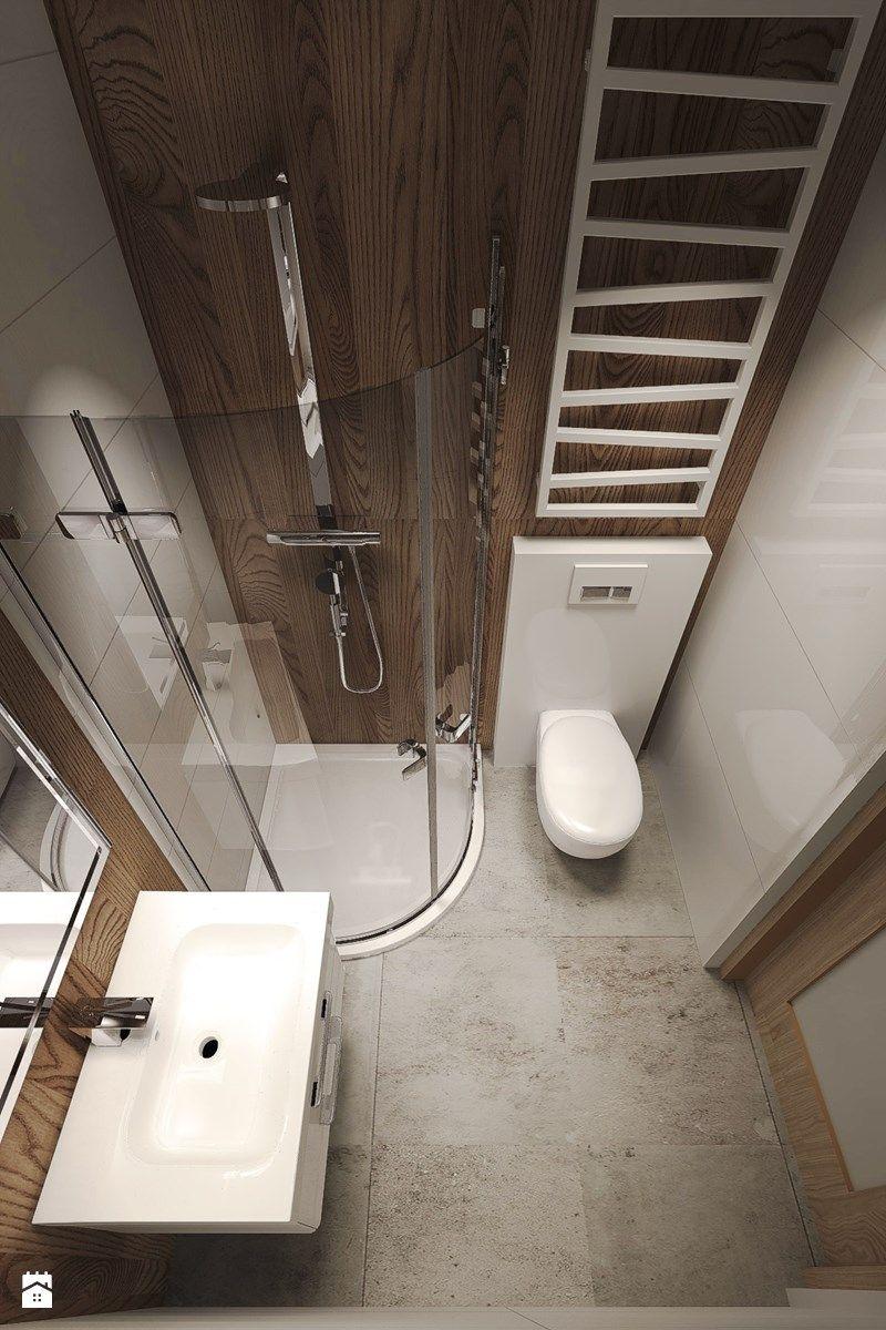 Aranżacje Wnętrz łazienka Dom Z Dużą Ilością Drewna Mała