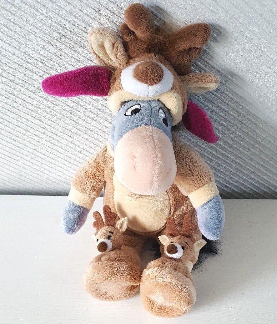 44f72c03d5914 DISNEYLAND Paris Pj Pal Santa EEYORE Reindeer Pyjamas Winnie The Pooh 25cm
