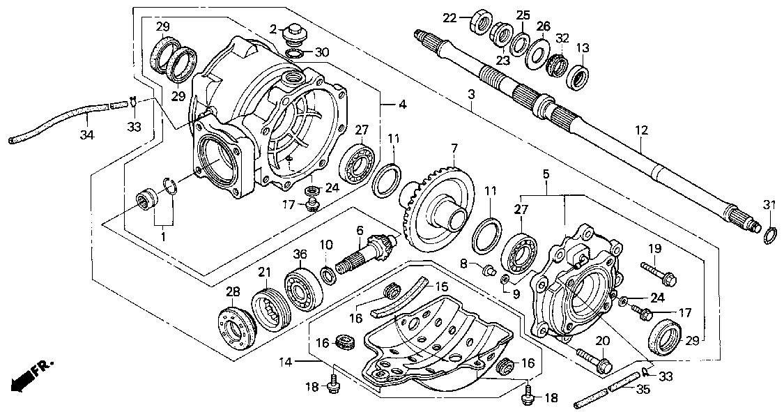 Honda 2001 Trx250tm Fourtrax Recon 250 Change Ingenieria