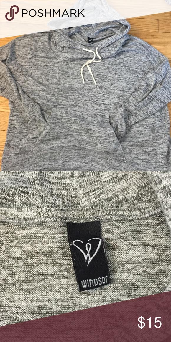 Gray sweatshirt from Windsor Gray sweatshirt from Windsor size large WINDSOR Sweaters