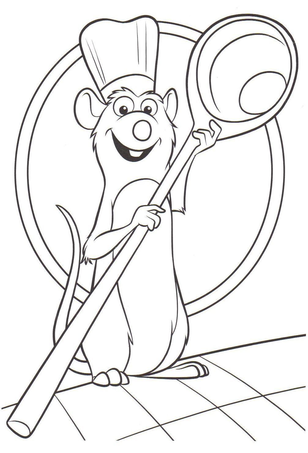 Ratatouille Malvorlagen