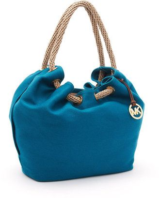 ShopStyle: MICHAEL Michael Kors Large Marina Shoulder Tote, Turquoise