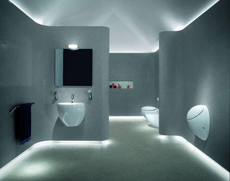 65 Modern Contemporary Led Strip Ceiling Light Design Hoommy Com Minimalist Bathroom Design Bathroom Design Luxury Futuristic Bathroom Design