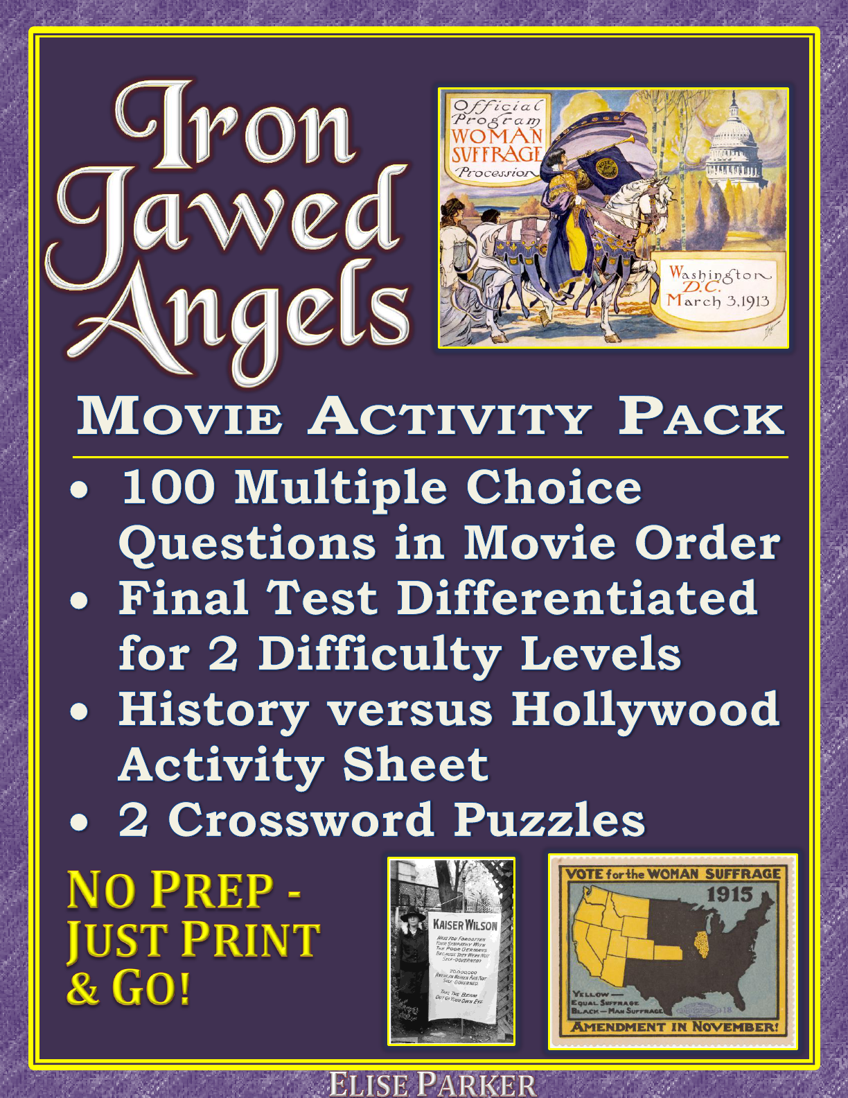 Iron Jawed Angels Worksheet And Activity Pack Suffrage