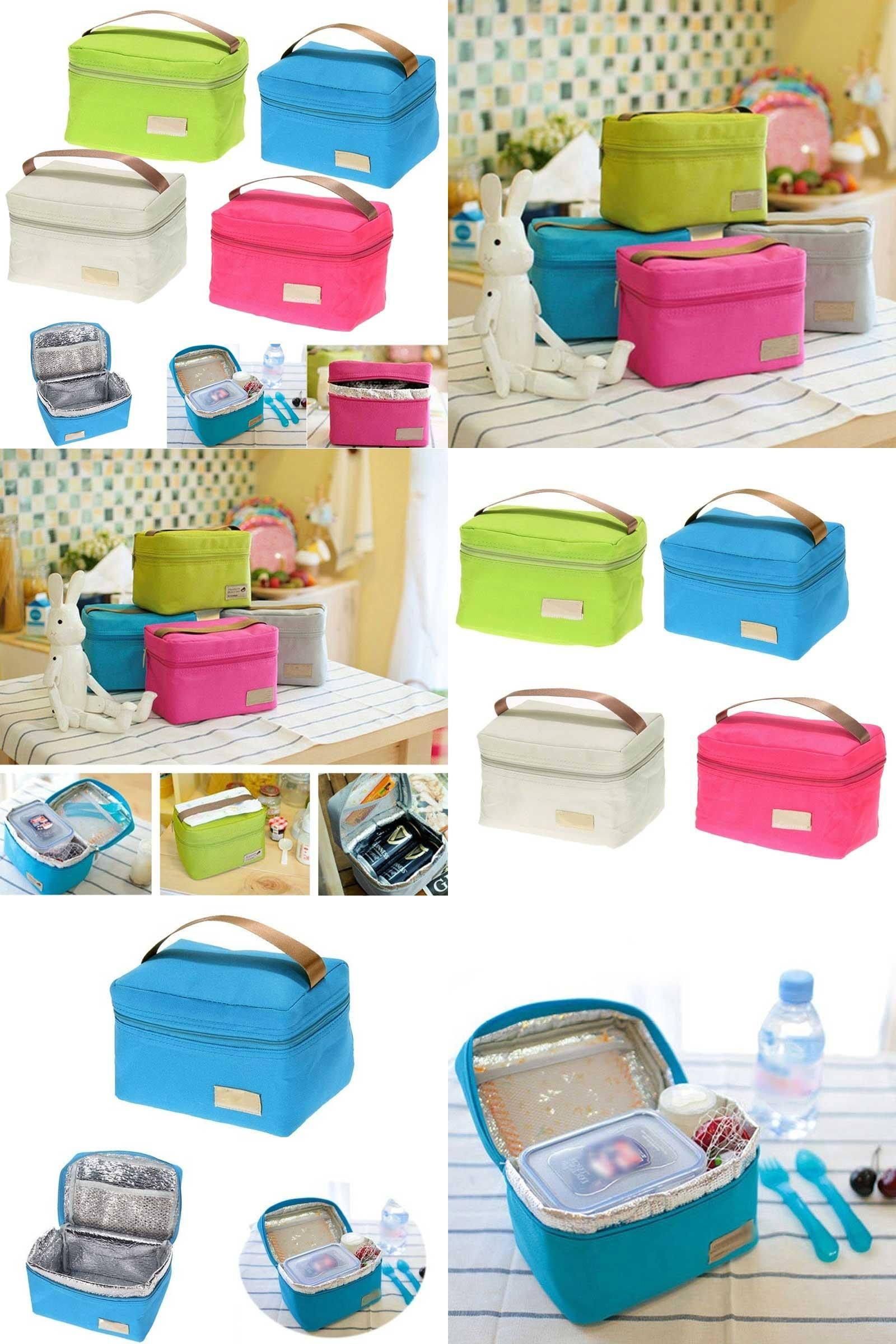 Visit to Buy  Travel Oxford Tinfoil Insulated Cooler Thermal Picnic Lunch  Bag Waterproof Tote 4f06826d15d30