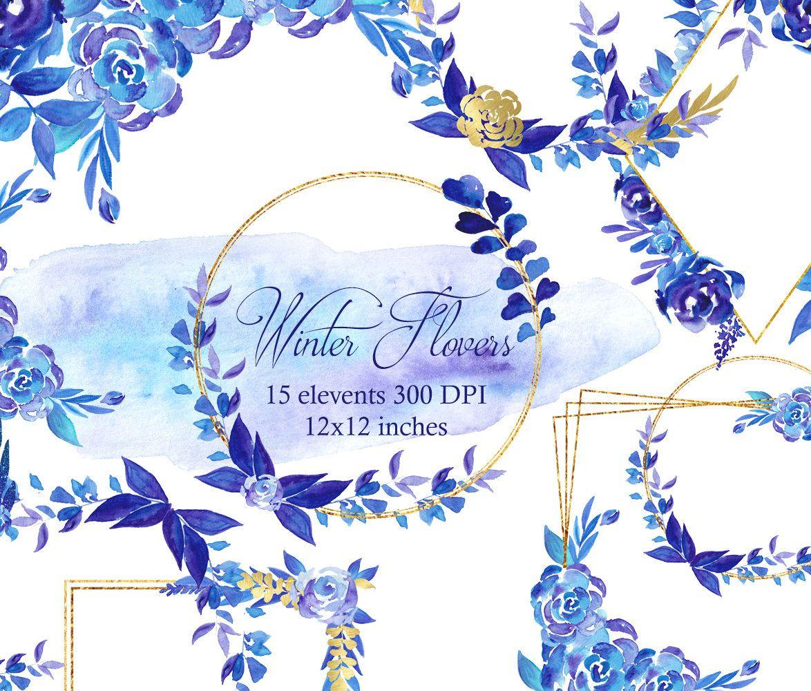 41++ Winter flower border clipart info