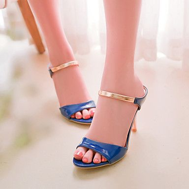 Women's Shoes Stiletto Heel Open Toe Patent Leather Sandals More Colors  Available